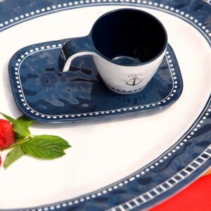 MARINE BUSINESS Tasses à café + sous-tasses sailor soul (x6)
