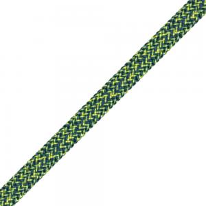 Liros Dyneema gainé Racer vision ø 8 bleu métal-jaune le mètre
