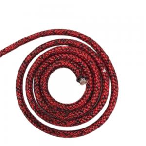 Liros Dyneema gainé Magic Edge ø 4 rouge noir le mètre