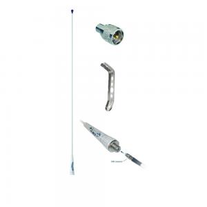 GLOMEX Pack antenne FME fouet fibre de verre voilier