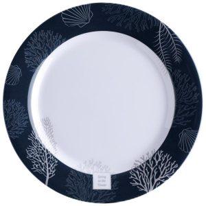 MARINE BUSINESS Assiettes plates Living antidérapantes (x6)
