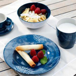 MARINE BUSINESS Assiettes desserts Living antidérapantes (x6)